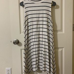 White dress with black striped